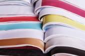 Open magazines close up — Stock Photo