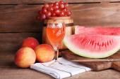 Composition of ripe watermelon — Fotografia Stock