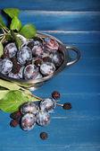Ripe sweet plums — Stock Photo