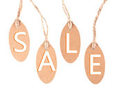 Sale tags isolated on white — Stock Photo