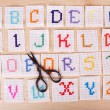 Handmade embroidered letters — Stock Photo #52528375