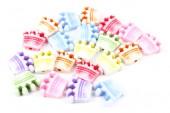Beading kit for children of different shape isolated on white — Stock Photo