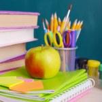 School supplies on table — Stock Photo #52534851