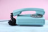 Retro turquoise telephone — Stock Photo