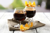 Espresso cocktail served on table — Stockfoto