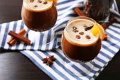 Espresso cocktail served on table — ストック写真