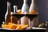 Espresso cocktail served on table — Zdjęcie stockowe