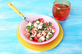 Fresh breakfast consisting of vegetable salad — Stock Photo