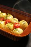 Young boiled potatoes, close up  — Foto de Stock