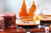 Espresso cocktail served on table — Stock Photo