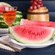 Composition of ripe watermelon, fruits — Stock Photo #52844807