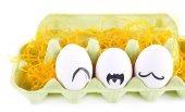 Eggs in egg tray — Stock Photo
