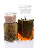 Bottle of herbal tincture — Stock Photo