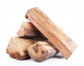 Firewood isolated on white — Stock Photo
