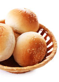 Tasty buns with sesame — Stock Photo