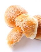 Tasty buns with sesame — Stock Photo