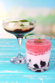 Watermelon cocktail and melon smoothie — Foto Stock
