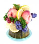 Table decoration made of fruits — Stock Photo
