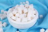 Refined sugar in bowl — Stock Photo