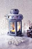 Flash light and Christmas decoration — Stock Photo