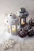 Flash light and Christmas decoration — Foto Stock