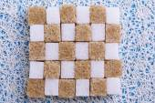 Brown and white refined sugar — Stock Photo