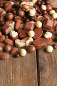 Different kinds of chocolates — Stock Photo
