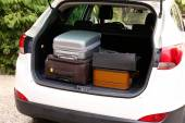 Suitcases and bags — Stock Photo