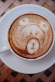 Coffee with cute drawing — Stock Photo