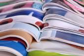 Open magazines — Stock Photo