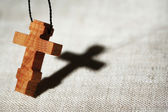Wooden cross — Stock Photo