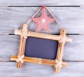Rectangular chalkboard — Stock Photo