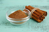Cinnamon bark and powder — Stock Photo