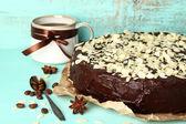 Chocolate cake with almond — Stock Photo