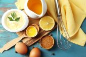 Mayonnaise ingredients — Stock Photo