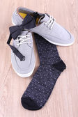 Top-siders and socks — Stock Photo