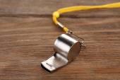 Sport metal whistle — Stock Photo