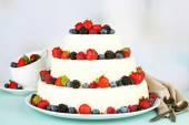 Wedding cake with berries — Stock Photo
