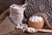 Sugar and bowl — Stockfoto