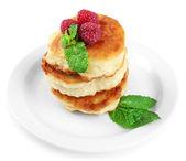Pancakes with fresberries — Stock Photo