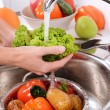 Washing fruits and vegetables — Stock Photo #53437277