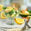 Salads with shrimps — Stock Photo #53439099