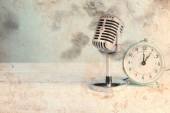 Microphone and alarm clock — Foto de Stock