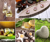 Wellness instelling collage — Stockfoto