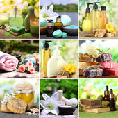 Spa remedies collage — Stock fotografie