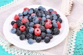 Berries on plate — Stock Photo