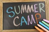 Text Summer camp — Stock Photo