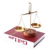 Civil Law book — Stock Photo