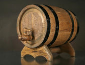 Barrel on table — Stock Photo