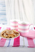 Coffee with biscuits — Stock Photo